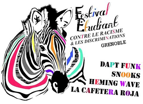 Affiche du Festival Etudiant contre le Racisme et les Discriminations