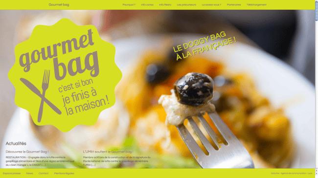 Capture d'écran du site de la Draaf gourmetbag.fr