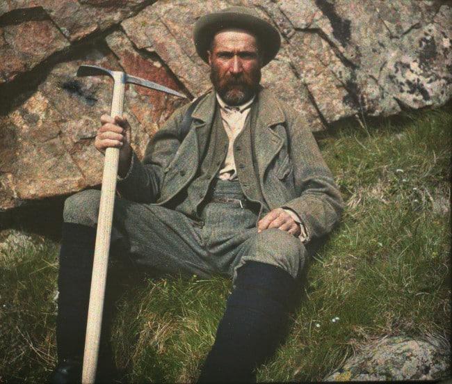 """Portrait du guide Joseph Turc dit """"Le Zouave"""""""