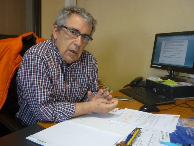 Bernard Perry, président de l'association banque alimentaire de l'Isère, membre du projet 3 étoiles solidaires.