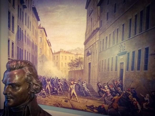 Tableau sur la journée des tuiles, le 7 juin 1788, au musée de l'ancien évêché de Grenoble. © Jean-François Ponsot