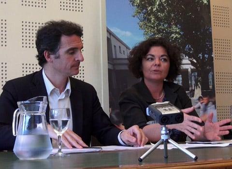 Éric Piolle, maire de Grenoble et Corinne Bernard, adjointe à la culture - © Joël Kermabon - placegrenet.fr