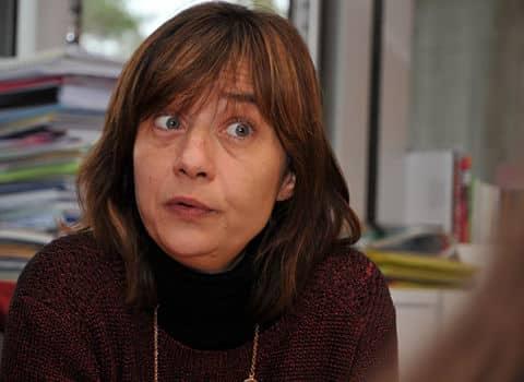 Élisa Martin, première adjointe chargée du parcours éducatif et de la tranquillité publique, dans son bureau de l'hôtel de ville de Grenoble. © Paul Turenne - placegrenet.fr