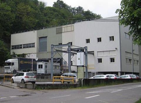Entrée de l'usine Arjowiggins à Charavines. DR