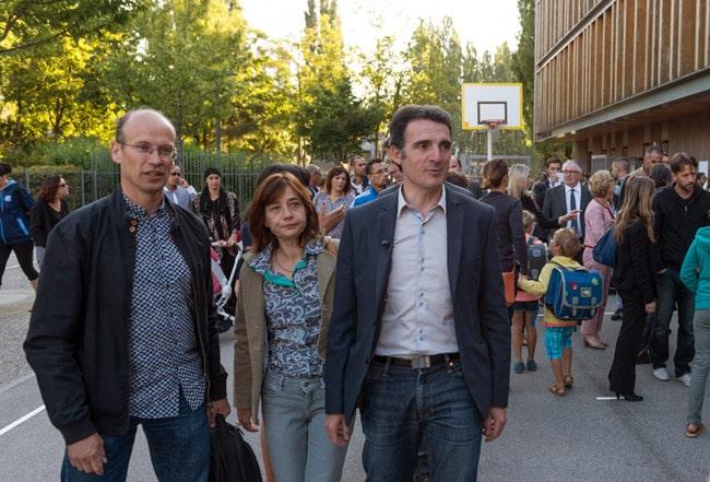 Fabien Malbet, Elisa Martin et Eric Piolle © Ville de Grenoble