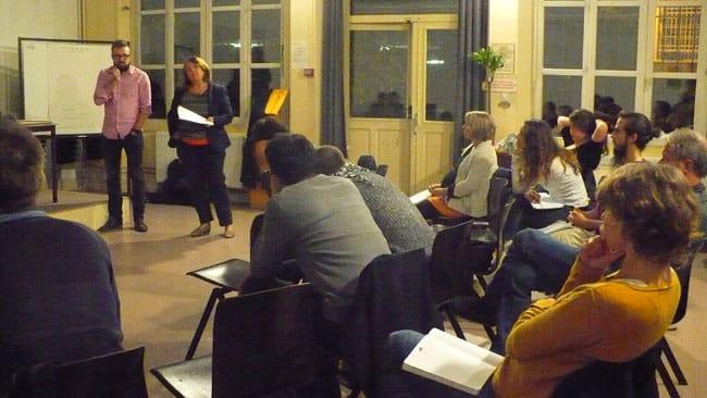 le CCAS de Seyssinet -Pariset expose son projet lors de la réunion du 19 mai 2015 - Delphine Chappaz