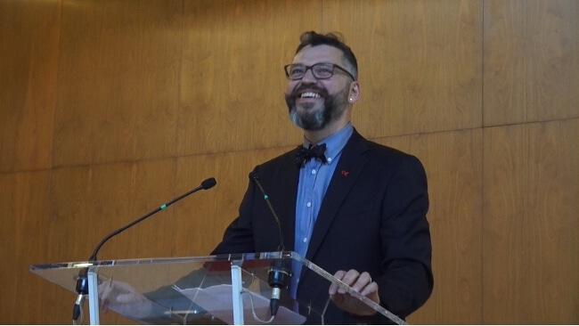 Emmanuel Carroz, adjoint de Grenoble à l'Égalité des droits et la Vie associative © Joël Kermabon - Place Gre'net