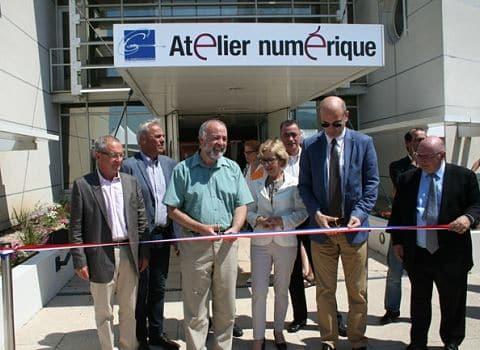 L'Atelier Numérique a été inauguré le vendredi 5 juin, en présence des élus locaux. © Le Grésivaudan