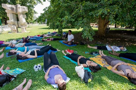 Séance de relaxation été Oh! Parc. © Ville de Grenoble