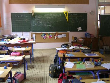 Une salle de classe. © Joël Kermabon - placegrenet.fr