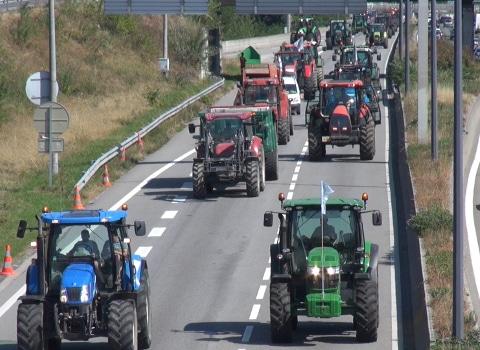 Manifestation des agriculteurs à Grenoble. © Joël Kermabon - placegrenet.fr