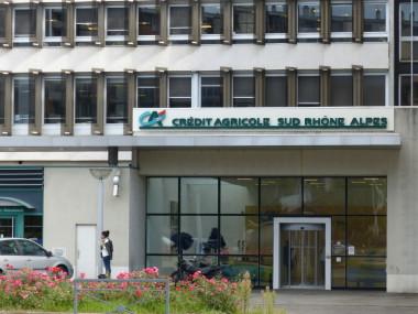 Siège de la banque Crédit Agricole Sud Rhône-Alpes à Grenoble. © Elodie Rummelhard - placegrenet.fr
