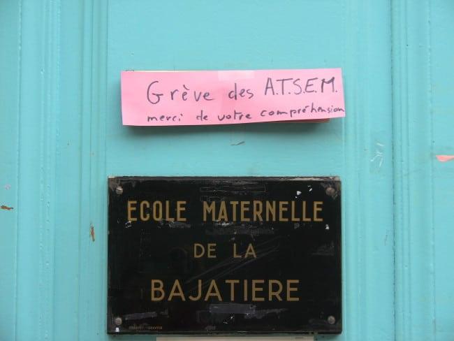 Au menu de ce 3ème jour de grève dans les écoles : un effectif municipal réduit, donc pas de restauration scolaire...
