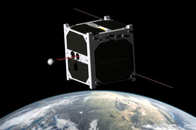 Grenoble: un nanosatellite intelligent pour surveiller la Terre Un nanosatellite en orbite (Illustration). DR