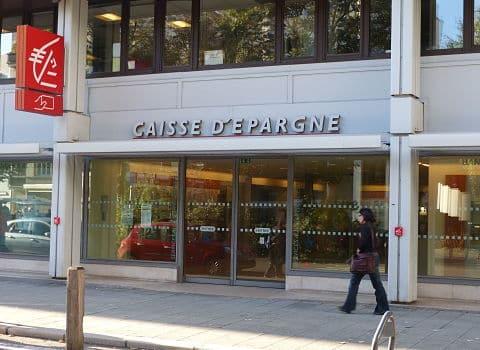 Agence Grenoble-Hébert de la Caisse d'Épargne Rhône-Alpes. © Elodie Rummelhard - placegrenet.fr
