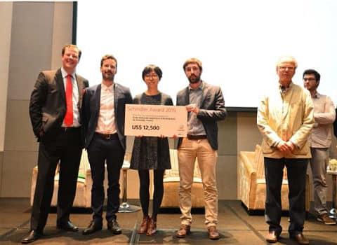Prix Schindler Lauréats Matthieu Sabatier et Cheng Zhang. DR