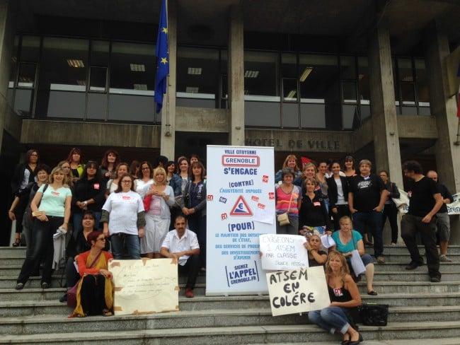 En 2015, les Atsem de Grenoble faisaient déjà grève. DR