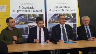 De gauche à droite : Yann Mongaburu, Christophe Ferrari, Jean-Pierre Barbier, Jean-Claude Peyrin. © Joël Kermabon - Place Gre'net