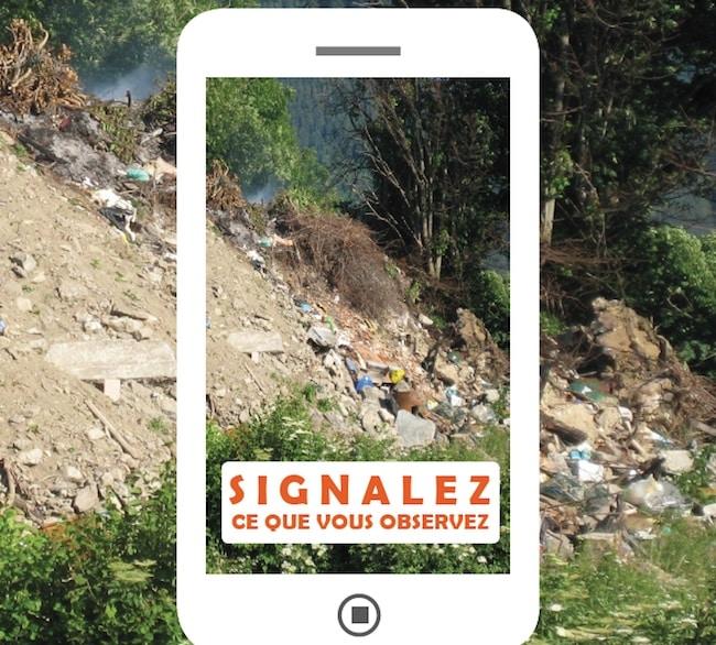 Les sentinelles de l'environnement : un site web de la FRAPNA qui propose une cartographie des atteintes à l'environnement, des décharges sauvages au remblaiement de zones humides. Crédit FRAPNA