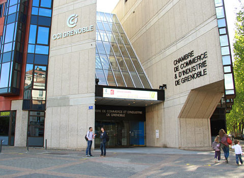 Chambre de commerce et d'industrie de Grenoble. © Chloé Ponset - placegrenet.fr