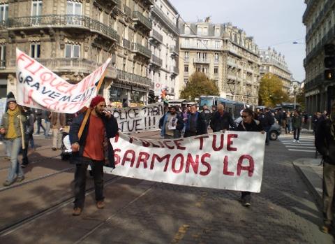 Hommage à Rémi Fraisse. © Joël Kermabon - Poace Gre'net
