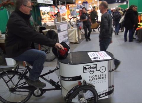 David Bollini, plombier-électricien à vélo. © Joël Kermabon - Place Gre'net