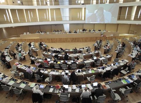 Une assemblée plénière, au siège du Conseil régional Rhône-Alpes, à Lyon. © Service communication Conseil régional Rhône-Alpes