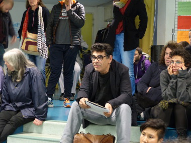 """Saïd Bouamama, sociologue engagé et militant associatif, invité de """"Villeneuve Debout"""". © Séverine Cattiaux - placegrenet.fr"""