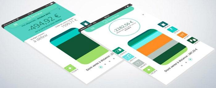 L'application Carte connectée développée par le Crédit agricole Sud Rhône-Alpes, permet de visualiser les dépenses de façon synthétique. DR