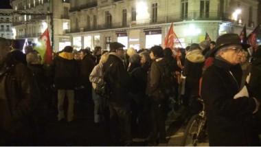 Deux cent personnes rassemblées. © Joël Kermabon - Place Gre'net