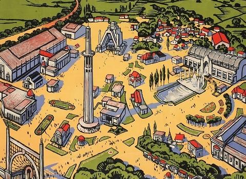 Affiche Chemins de fer Lyon Méditerranée. Exposition internationale de la Houille blanche et du Tourisme, maioctobre 1925, signée Roger Broders, Paris 1925, coll. Musée dauphinois