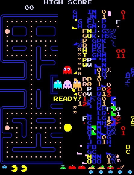 Le niveau 256 de Pac-Man siffle la fin de la partie. DR