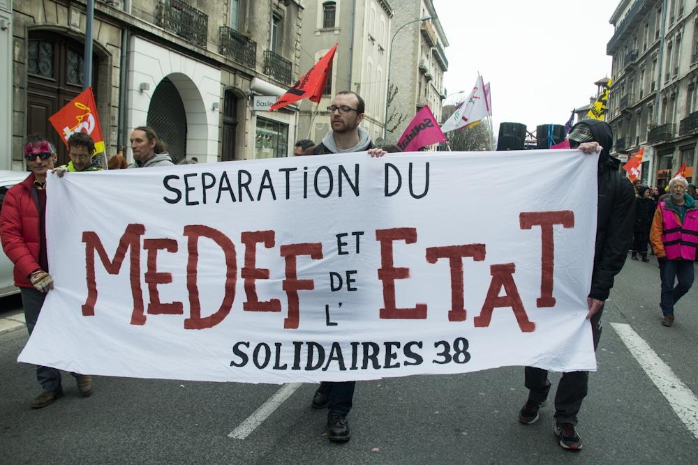 Manifestation contre la loi de travail à Grenoble. ©Yuliya Ruzhechka - www.placegrenet.fr