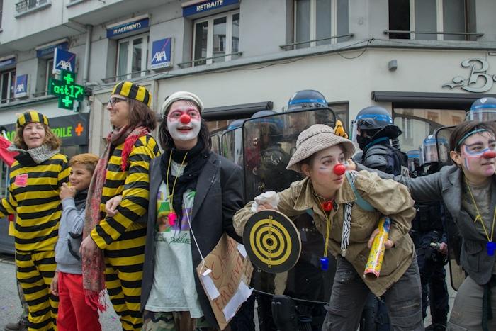 Manifestation contre la loi travail El Khomri à Grenoble, 31 mars 2016. © Yuliya Ruzhechka - www.placegrenet.fr