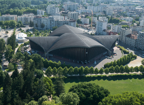 Le palais des sports Pierre Mendès France. © Ville de Grenoble