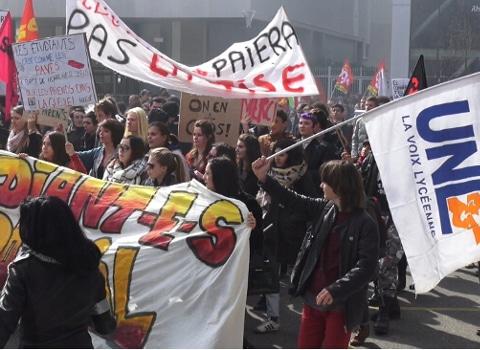 Manifestation contre la loi El Khomri du 17 mars 2016. © Joël Kermabon - Place Gre'net