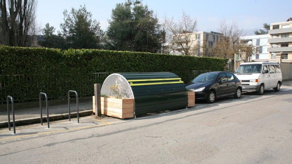 Modèle de minibox installé rue de New-York à Grenoble. © Florent Mathieu - Place Gre'net