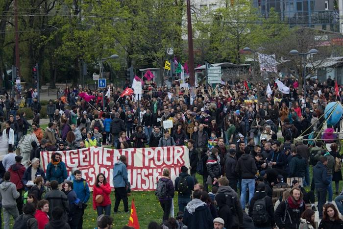Manifestation contre la loi El Khomri, 9 avril 2016. © Yuliya Ruzhechka - placegrenet.fr