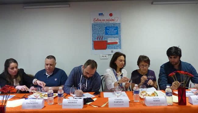 Jury du concours « Extra en cuisine » organisé par la Smerra et le Crous le 31 mars 2016 à Grenoble.