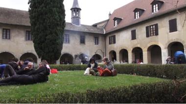 Le jardin du cloître du musée Dauphinois. © Joël Kermabon - Place Gre'net