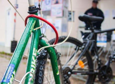 Vélo avec un marquage Bicycode. © DR