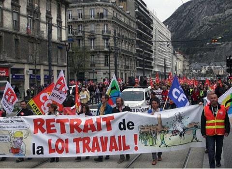 Départ de la manifestation contre la loi El Khomri. © Joël Kermabon - Place Gre'net