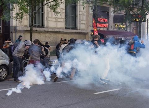 Manifestation contre la loi de travail, 28 Avril 2016. © Yuliya Ruzhechka - Place Gre'Net