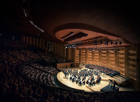 Les musiciens de l'orchestre national de Lyon