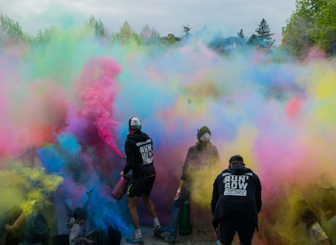Run'Bow Colors Grenoble. © Yuliya Ruzhechka - Place Gre'Net