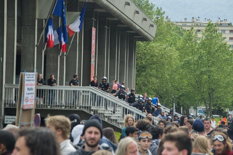 Manifestation contre la loi de travail, 26 mai 2016. © Yuliya Ruzhechka - Place Gre'Net