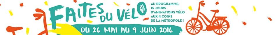 Faites du vélo du 26 mai au 9 juin 2016. Quinze jours d\\\