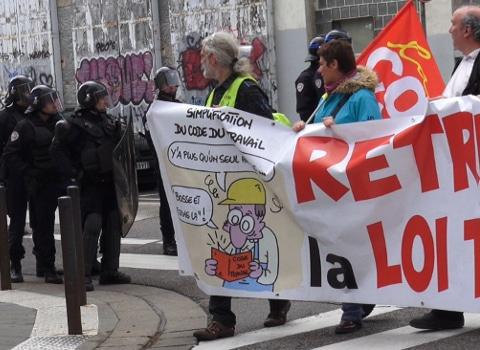 Manifestation du 12 mai 2016 contre la loi El Khomri. © Joël Kermabon - Place Gre'net