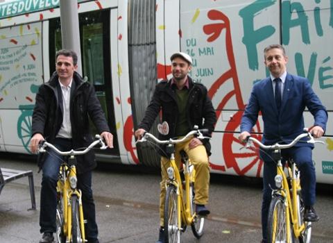 De gauche à droite : Éric Piolle, Yann Mongaburu et Christophe Ferrari. © Joël Kermabon - Place Gre'net