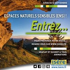 Espaces naturels sensibles (ENS) : pour préparer votre visite rendez-vous sur www.isere.fr Gratuit et ouvert à tous , animations